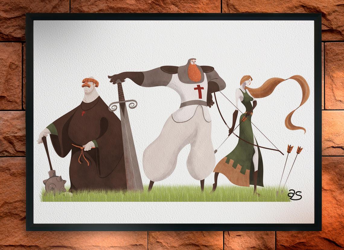 Dibujo personajes medievales