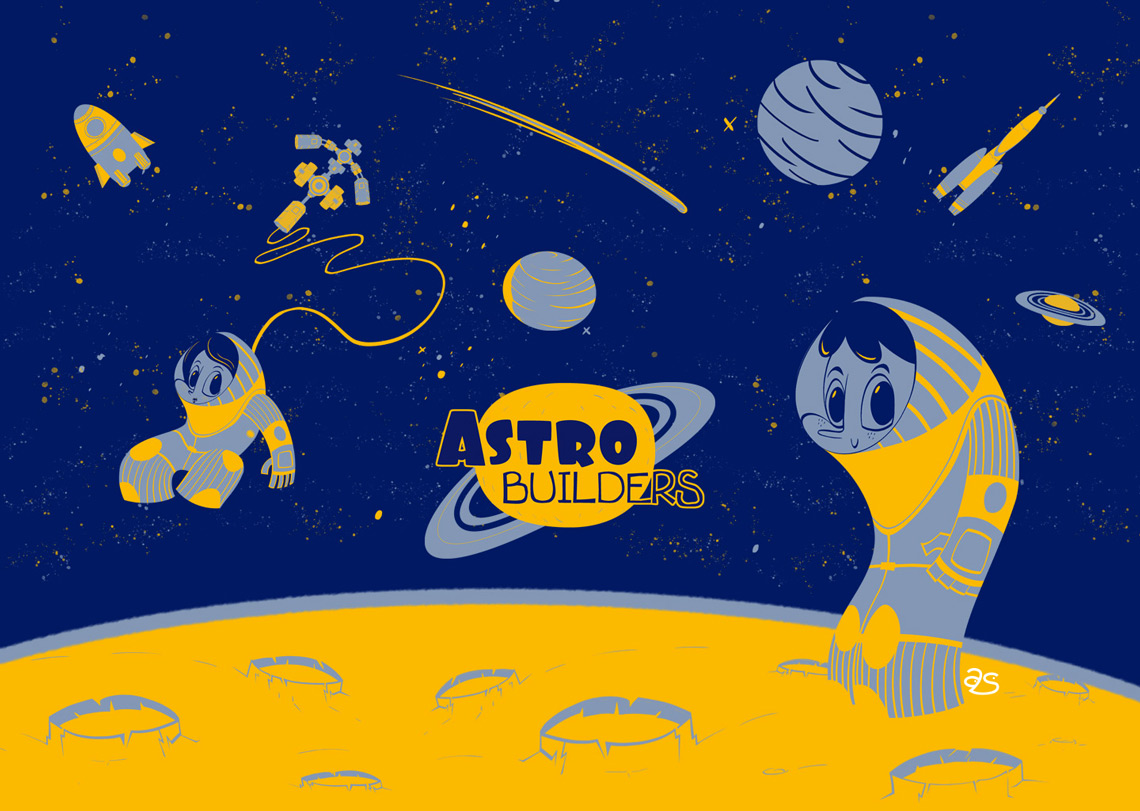 Estética espacial astronautas
