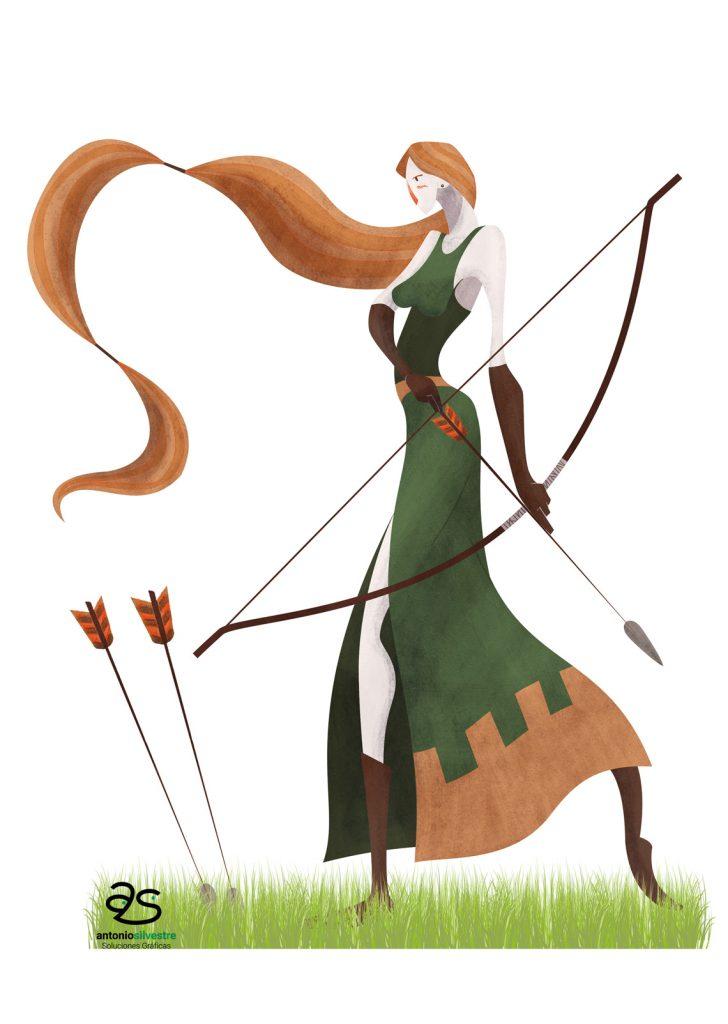 Diseño de personaje arquera