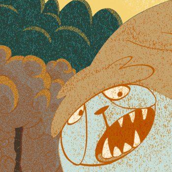 Ilustración digital textura sasquatch