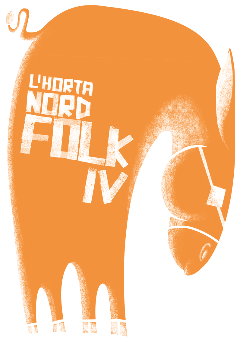 Horta Nord Folk tinta tinta naranja