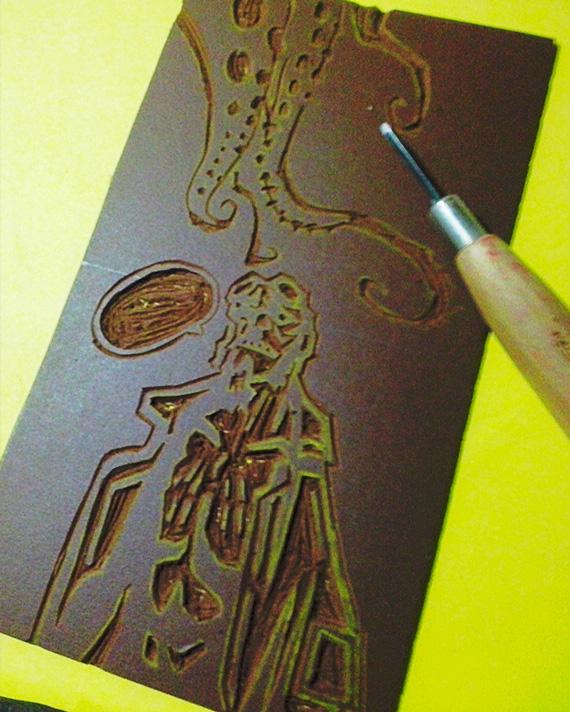 Plancha linóleo Hellboy