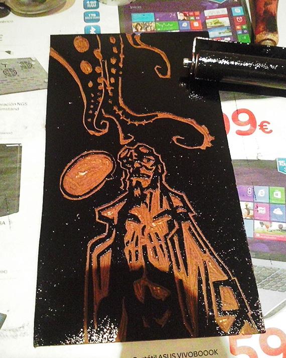 Tinta linóleo Hellboy