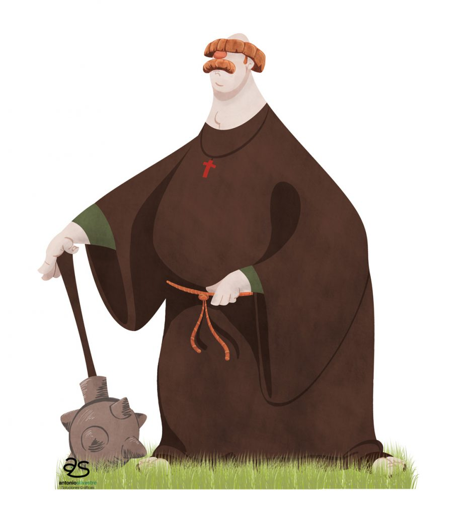 Diseño de personaje monje