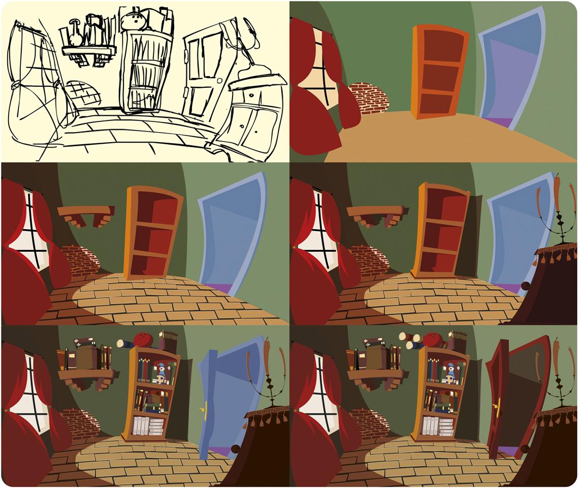 Escenario ilustración proceso
