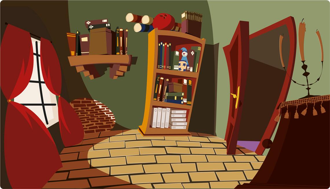 Concept habitación cartoon