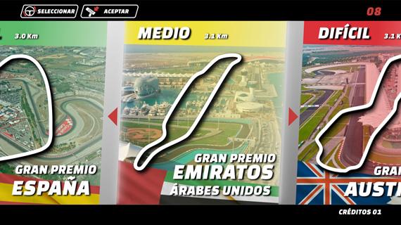 Videojuego F1 Interfaz
