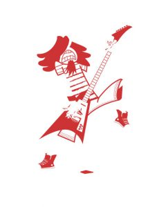 heavy metal guitarra tinta línea