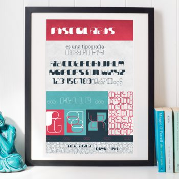 Cartel Piscolabis Font
