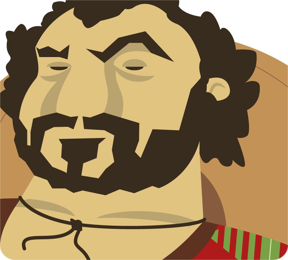 ilustración vectorial hombre barbas