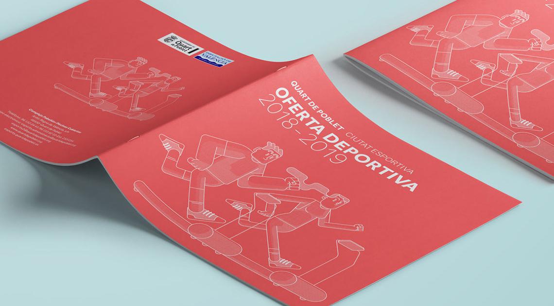 Maquetación portada catálogo deportes