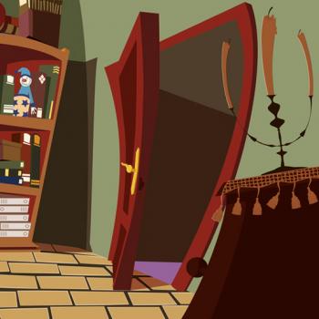 puerta escenario estética cartoon