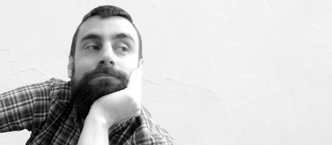 Retrato blanco y negro barbas